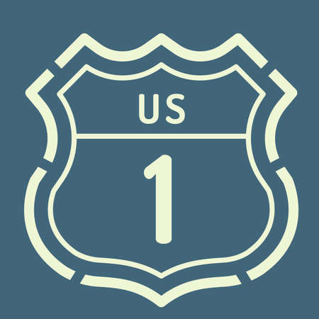 1: US 1 route sign Illustration