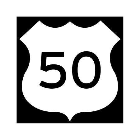route: 50 route sign Illustration