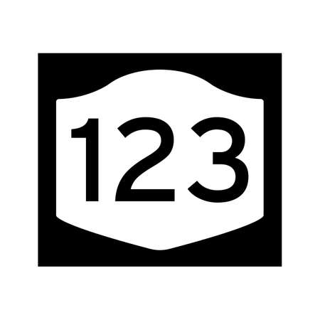 route: 123 route sign