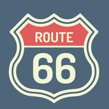 66: Route 66 label Illustration