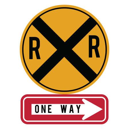 railroad crossing: railroad road sign