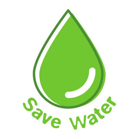 waterdrops: Savewater Illustration