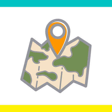 outing: Map with navigation pointer