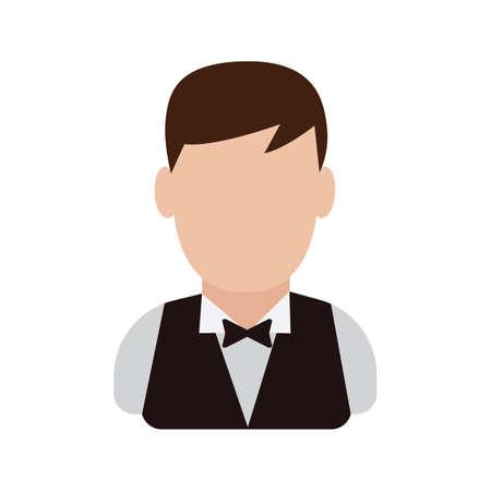hospitality staff: Waiter Illustration