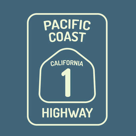 highway signs: California highway route sign
