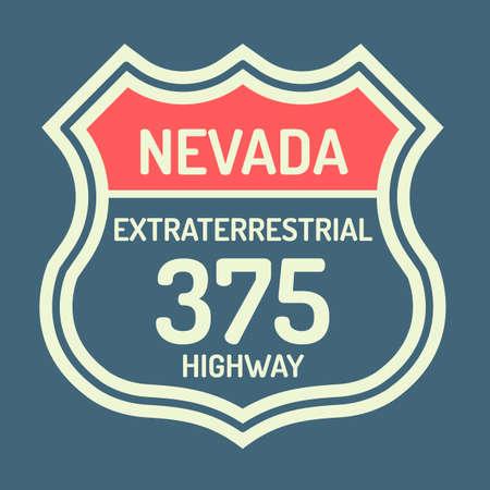 nevada: Nevada route sign