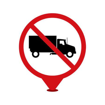 heavy vehicle: No heavy goods vehicle sign Illustration