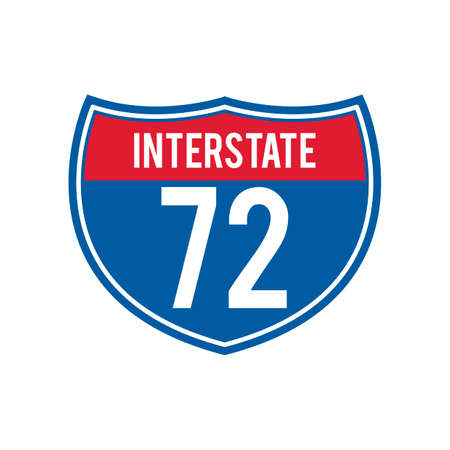 seventy two: Interstate 72 route sign