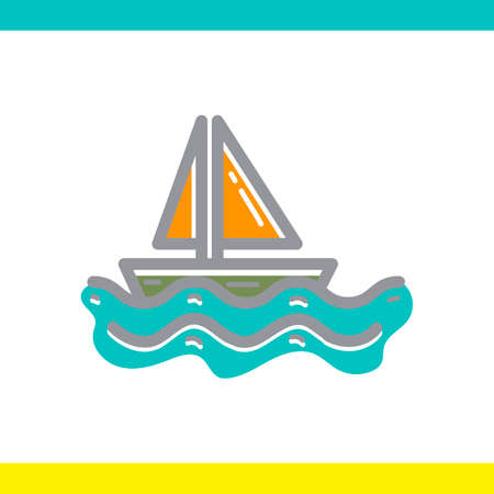 waterway: Sailboat Illustration