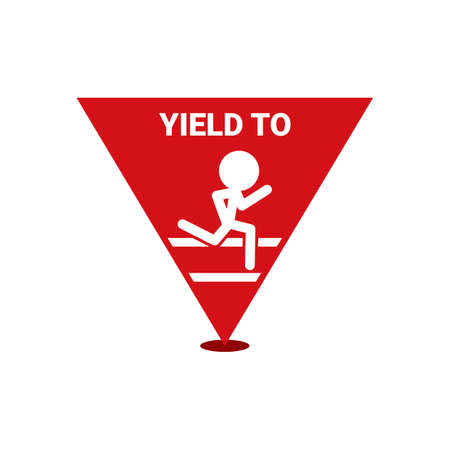 yield sign: Yield to sign Illustration