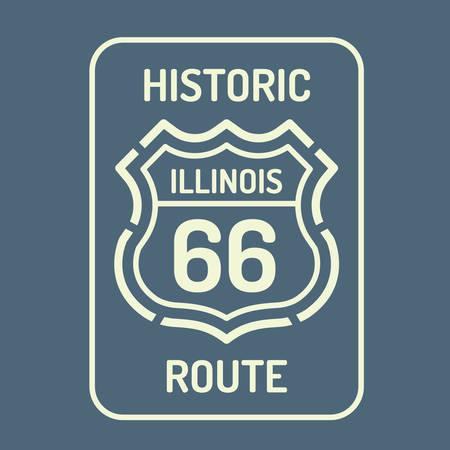 66: Illinois route 66 sign