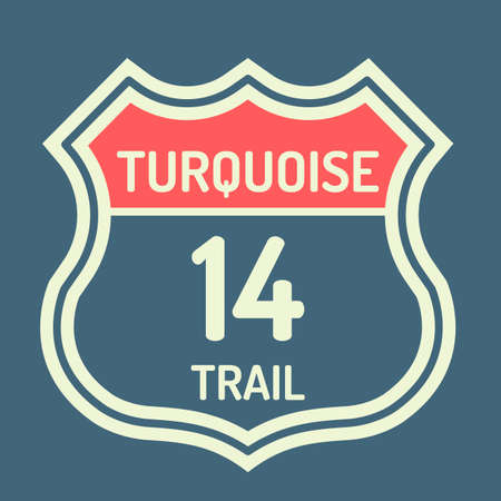 14: Turquoise trail 14 route sign