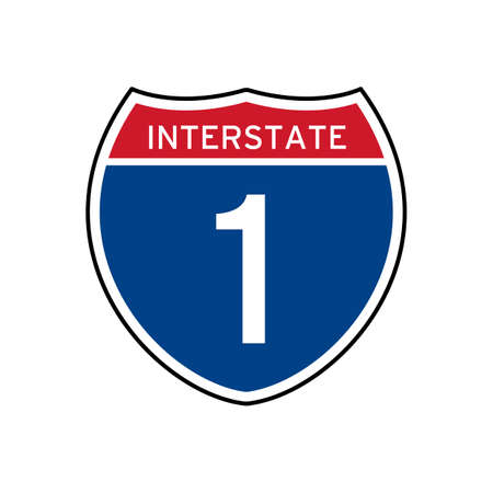 interstate: Interstate 1 route sign