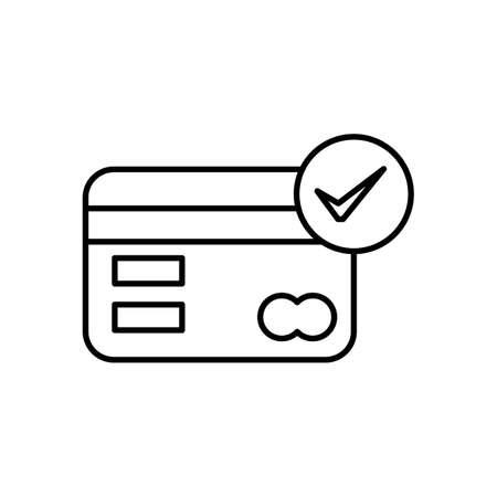 creditcards: Bankingcardwithtickmark