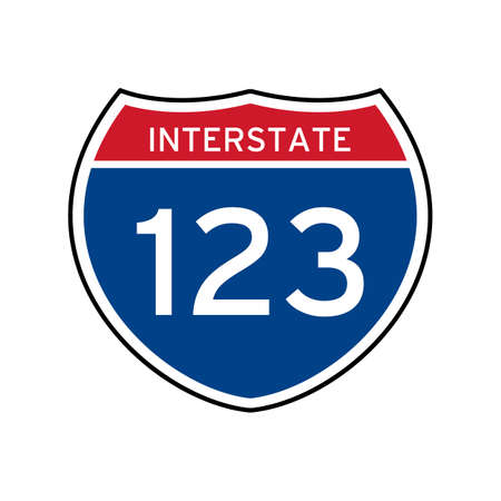 interstate: Interstate 123 route sign