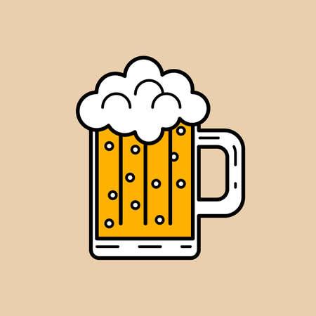 cooled: Beer Illustration