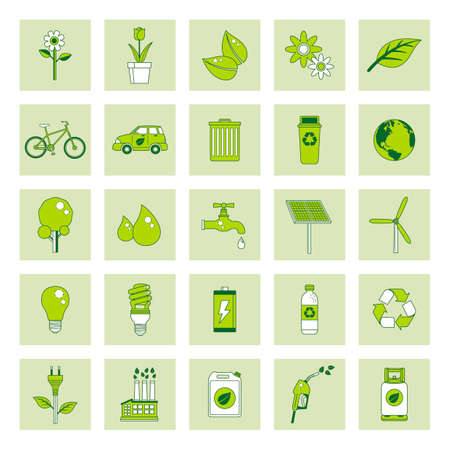 windturbine: Collectionofecologyicons