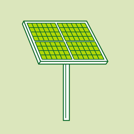 photovoltaic panel: Solarpanel Illustration