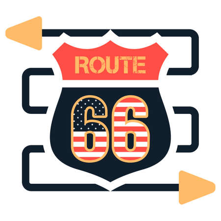 route 66: Route 66 sign Illustration