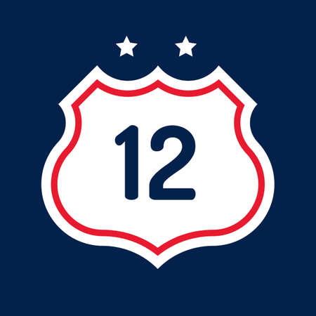 12: Route 12 road sign