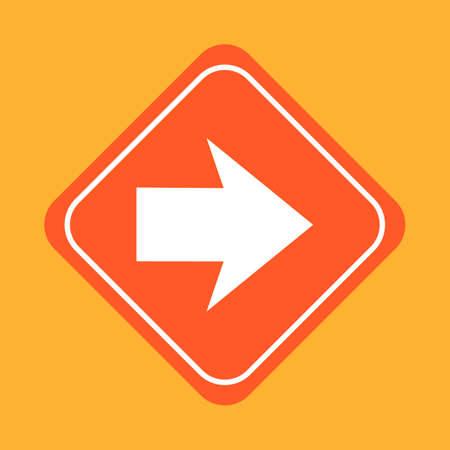 znak drogowy: Large arrow road sign