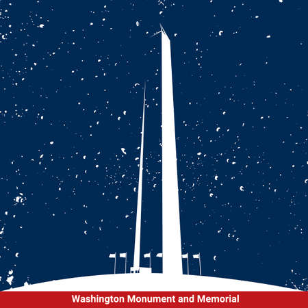 national parks: Washington monument and memorial Illustration