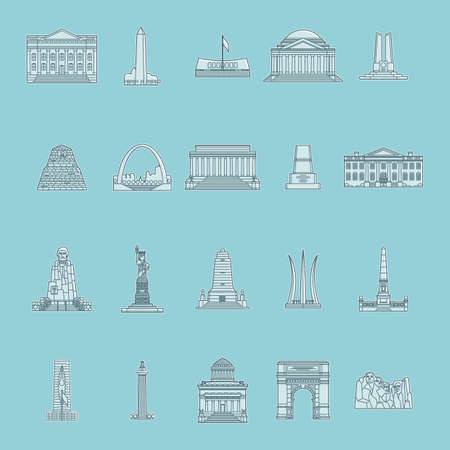 washington monument: Collection of USA monuments