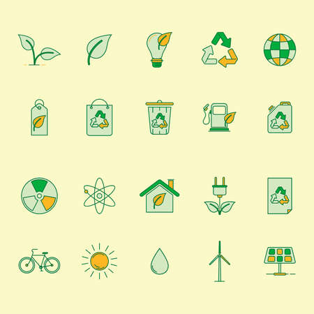 waterdrops: Collectionofecologyicons