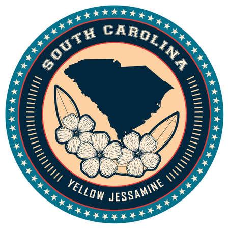 south carolina: South Carolina state label