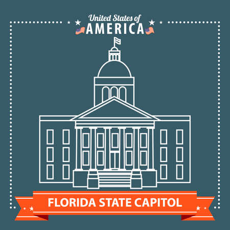 florida state: Florida state capitol Illustration
