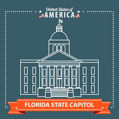 florida state: Florida state capitol Illustration