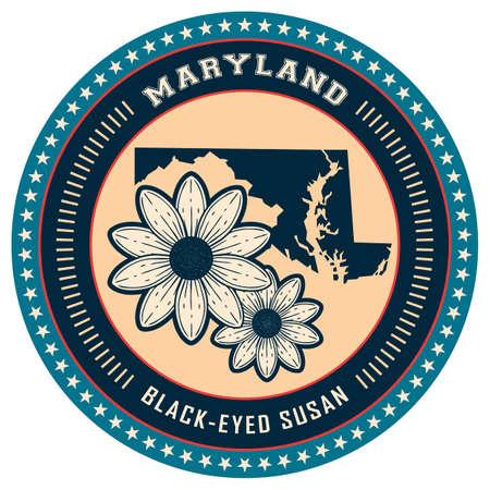 maryland: Maryland state label