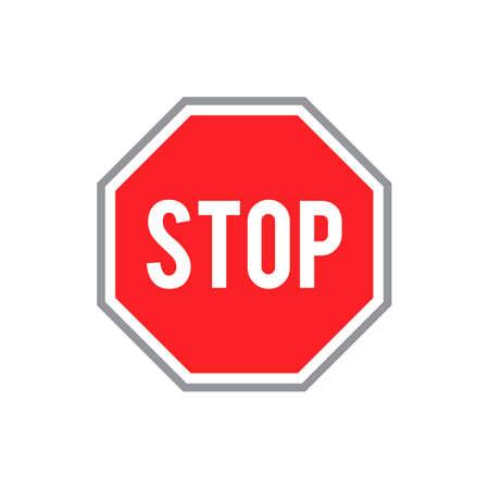 Arrêter panneau routier Banque d'images - 45344897