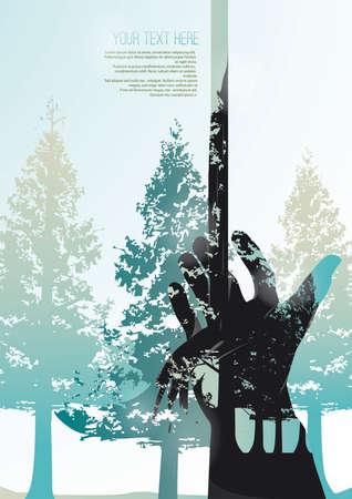 textspace: Conservationconceptposter Illustration
