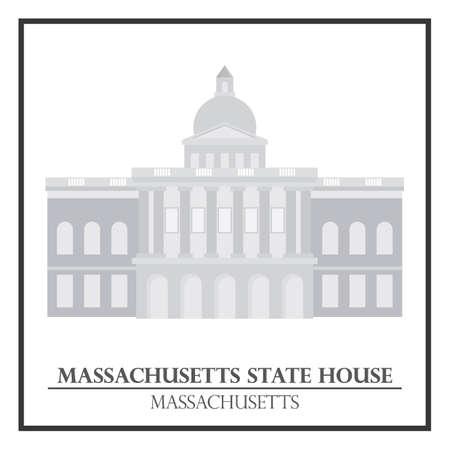 massachusetts: Massachusetts state house Illustration