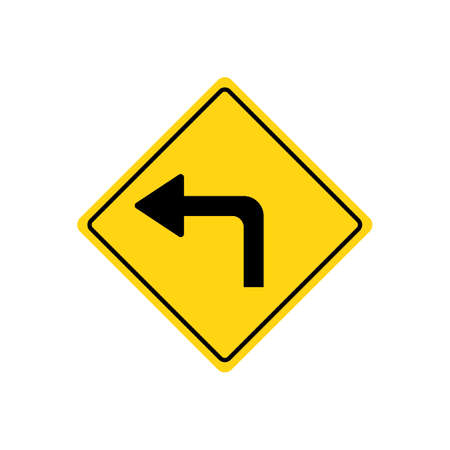roadsigns: Sharp left turn warning
