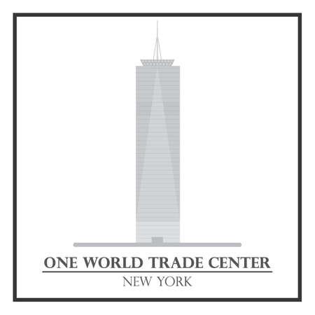world trade: Un centro de comercio mundial Vectores