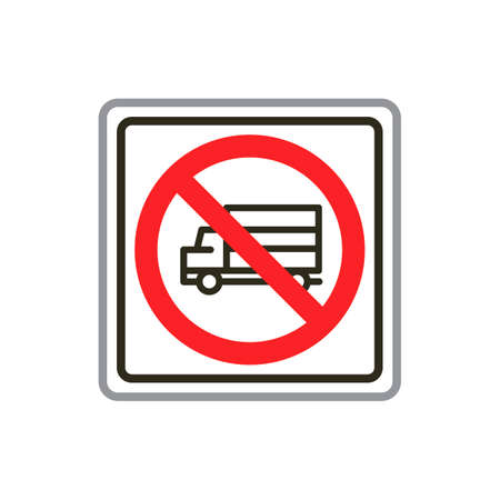 heavy: No heavy vehicle road sign