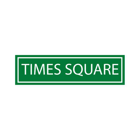 times square: Times square sign Illustration