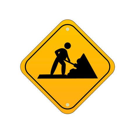 road works: Road works sign
