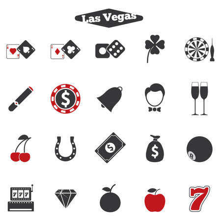 Set of las vegas icons 向量圖像