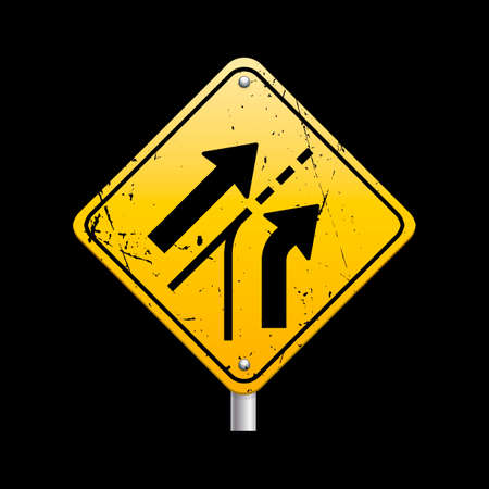 Added lane traffic sign