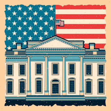 Witte Huis Stock Illustratie