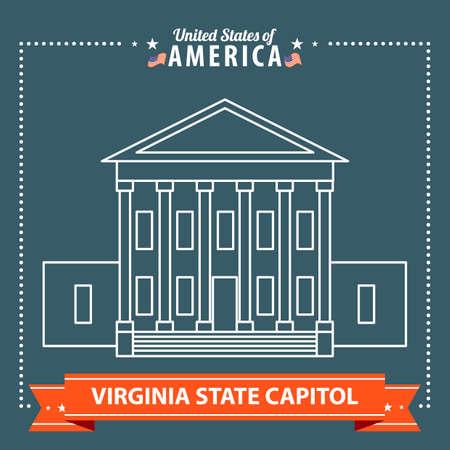 virginia: Virginia state capitol Illustration
