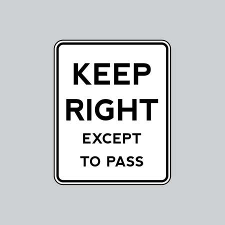 roadsigns: Keep right road sign Illustration