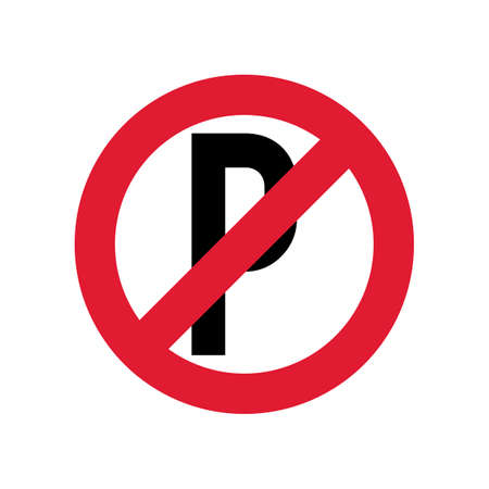 no  parking: No parking sign Illustration
