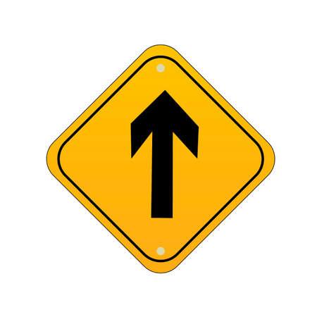 Go straight road sign Illustration