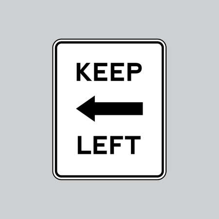 keep: Keep left road sign Illustration