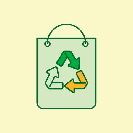 paperbag: Paperbagwithrecyclesymbol