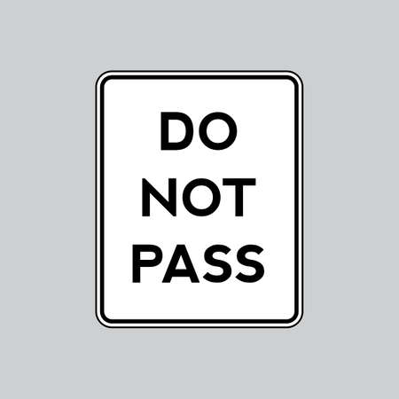 znak drogowy: Do not pass road sign Ilustracja